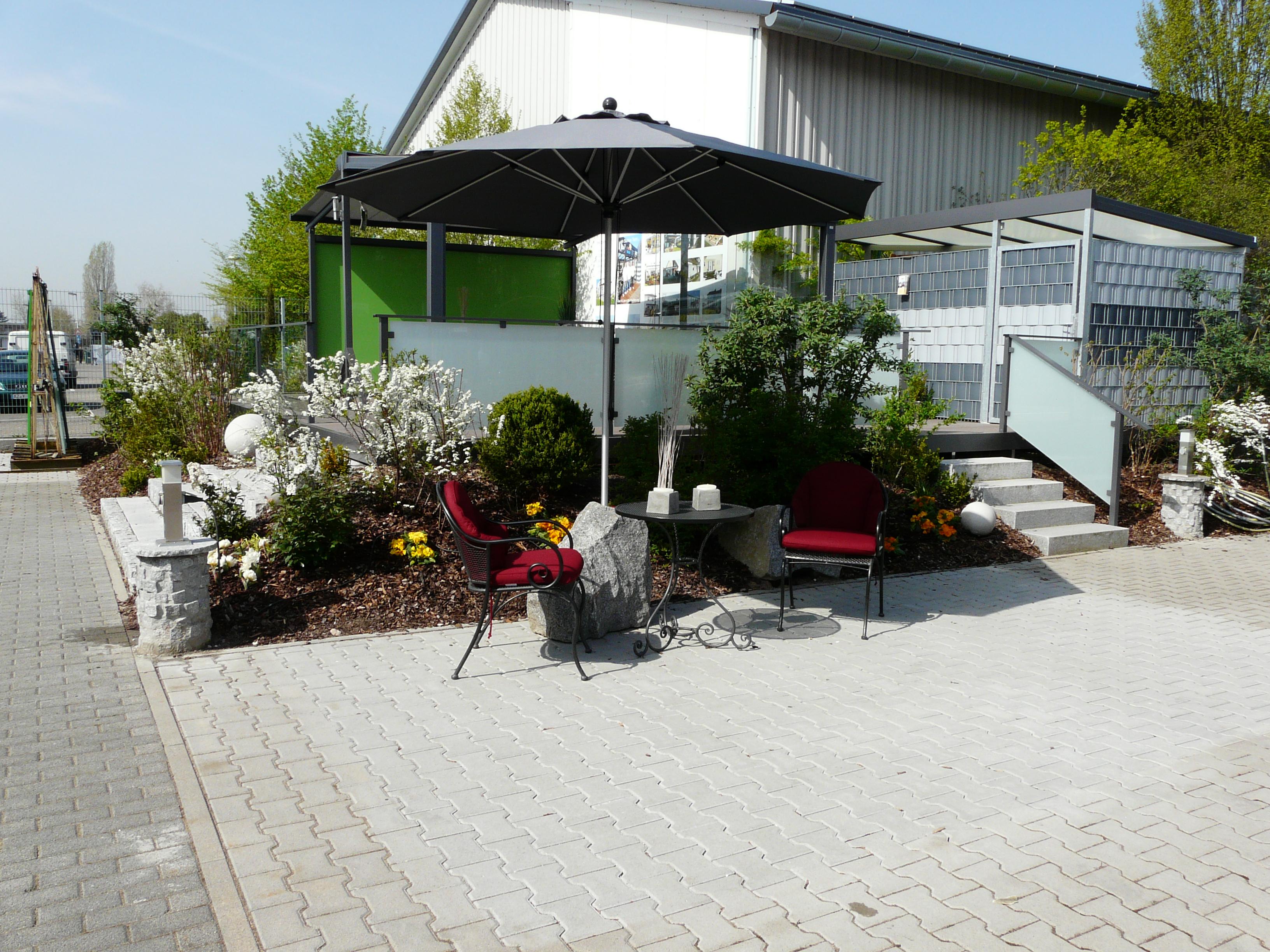 Sonnenschirm, Sietzgelegenheit, Terrassenüberdachung