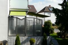 Fallarmmarkise, Micro 100, Sichtschutz, Sonnenschutz